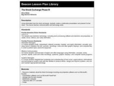 The Stock Exchange Phase III Lesson Plan