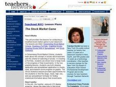 The Stock Market Game Lesson Plan