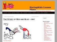 The Story of Red and Blue- ART Lesson Plan