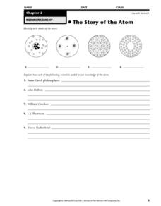 The Story of the Atom Worksheet