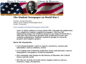 The Student Newspaper on World War I Lesson Plan