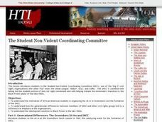 The Student Non-Violent Coordinating Committee Lesson Plan