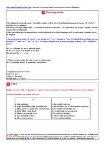 The Subjunctive Worksheet