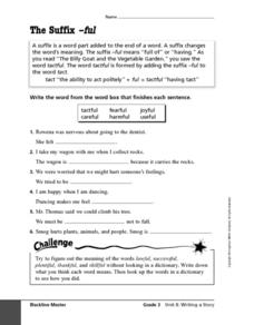 The Suffix -ful Worksheet
