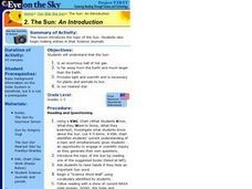 The Sun:  An Introduction Lesson Plan