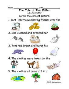 The Tale of Tom Kitten Worksheet