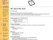 The Task of the Mask Lesson Plan
