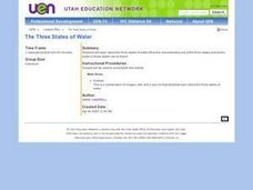 The Three States of Water Lesson Plan