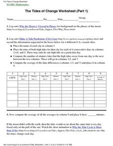 The Tides of Change Worksheet (Part 1) Lesson Plan