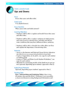 The Tides-Ups and Downs Lesson Plan