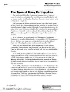 Printables 6th Grade Main Idea Worksheets the town of many earthquakes main idea and details 5th 6th worksheet