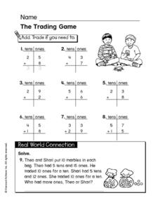 The Trading Game Worksheet