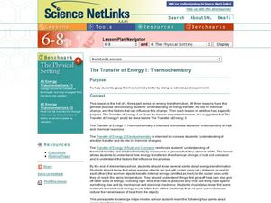 The Transfer of Energy 1: Thermochemistry Lesson Plan