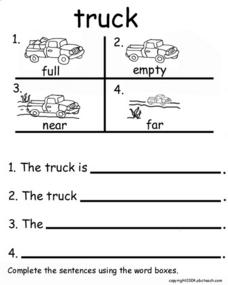 The Truck Worksheet