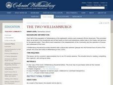 The Two Williamsburgs Lesson Plan