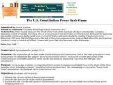 The U.S. Constitution Power Grab Game Lesson Plan