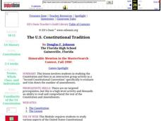 The U.S. Constitutional Tradition Lesson Plan