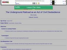 the underground railroad as an act of civil disobedience 9th 12th grade lesson plan lesson. Black Bedroom Furniture Sets. Home Design Ideas