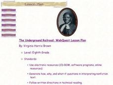 The Underground Railroad: Webquest Lesson Plan