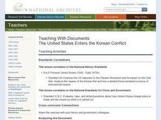 The United States Enters the Korean Conflict Lesson Plan