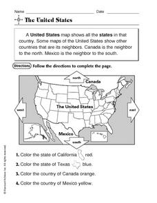 The United States Worksheet