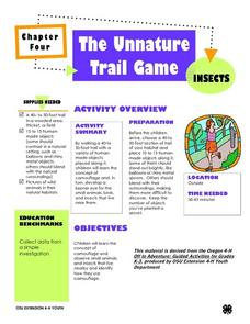 The Unnature Trail Game Lesson Plan