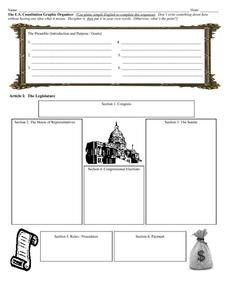 Printables The Us Constitution Worksheet the us constitution graphic organizer 9th 12th grade worksheet worksheet