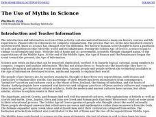The Use of Myths in Science Lesson Plan