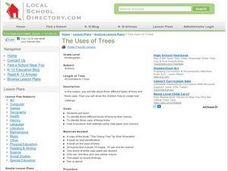 The Uses of Trees Lesson Plan