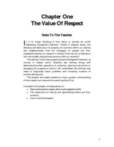 The Value of Respect Lesson Plan