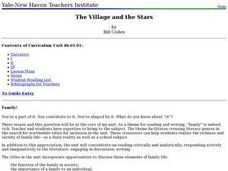 The Village and the Stars Lesson Plan