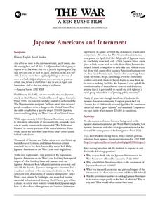The War: Japanese Americans and Internment Lesson Plan
