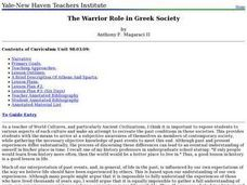 The Warrior Role in Greek Society Lesson Plan