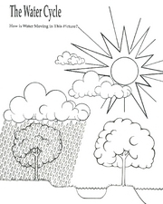 The Water Cycle - How is Water Moving in This Picture? Printables & Template