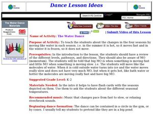 The Water Dance Lesson Plan