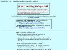 The Way Things Fall Lesson Plan