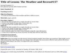 The Weather and Recess #157 Lesson Plan