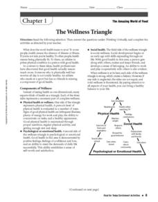 Worksheet Mental Health Wellness Worksheets the wellness triangle 6th 9th grade worksheet lesson planet worksheet