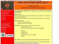 The Western Red Lily - Abiotic/Biotic Conditions Lesson Plan