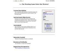 The Westing Game - Enter the Mystery! Lesson Plan