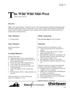 The Wild Wild Mid-West Lesson Plan