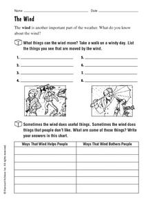 The Wind Worksheet