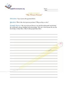 The Wisest Person Worksheet