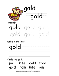 The Word 'Gold' Worksheet