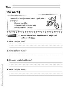 The Word I Worksheet