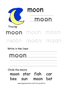 The Word Moon Worksheet