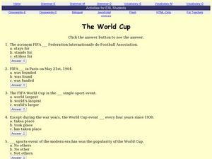The World Cup Worksheet
