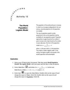 The World Population:  Logistic Model Lesson Plan
