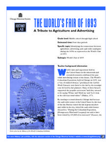 The World's Fair of 1893: A Tribute to Agriculture and Advertising Lesson Plan