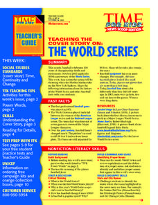 The World Series Lesson Plan